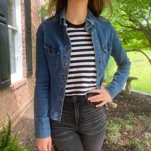 Free People Denim Jacket w/ Buttons